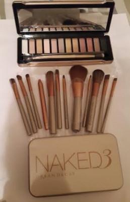 Set Trusa make up 12 culori + pensule profesionale Naked 5 Urban Decay foto