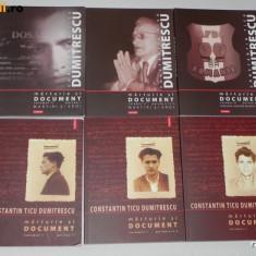 LOT 6 CARTI CONSTANTIN TICU DUMITRESCU - MARTURIE SI DOCUMENT VOL 1-2 - Biografie