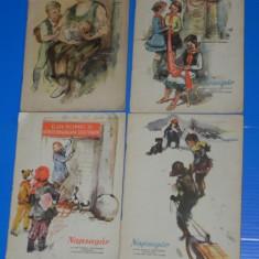 LOT 4 REVISTE COPII - LUMINITA - RAZA DE SOARE - VARIANTA IN LIMBA MAGHIARA (00614 - Revista scolara