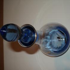Sticla cobalt pictata