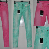 Die For It - Blugi femei Strech 2 nuante WMN Washed Jeans Marime XXS/XS