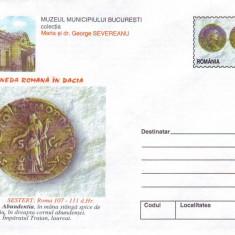Monede Romane, intreg postal necirculat, 2000
