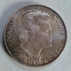 Moneda argint Franta - 100 franci / francs 1984 - aniversara Marie Curie, Europa, An: 1933