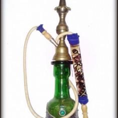 Narghilea turceasca cu sticla verde - pentru decor