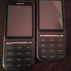 Nokia C3-01 gri / second hand / necodate / folie ecran POZE REALE - Telefon mobil Nokia C3-01, Argintiu, Neblocat