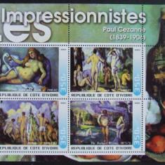 COASTA DE FILDES 2003 - PICTURI IMPRESIONISTE, 1 M/SH, NEOBLITERATA - PP 770