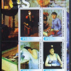 COASTA DE FILDES 2003 - PICTURI IMPRESIONISTE 4 VALORI IN M/SH, NEOBLIT - PP 771, An: 2013