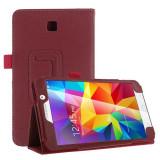 "Husa piele eco toc flip rosu Samsung Galaxy Tab 4 T230 7.0"" + folie protectie - Husa Tableta, 7 inch"