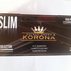 Tuburi pentru tigari KORONA SLIM - 500 buc. la cutie !! - Foite tigari