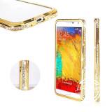 Bumper cristale aluminiu gold auriu Samsung Galaxy S5 i9600 G900 + folie ecran