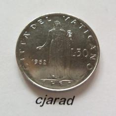 Moneda 50 Lire, Vatican 1962 (stare a.UNC+) *cod 231, Europa