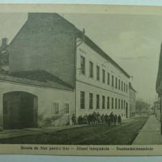ORASTIE - SZASZVAROS - BROOS - SCOALA DE STAT PENTRU FETE - INCEPUT DE 1900 - Carte Postala Transilvania 1904-1918, Necirculata, Fotografie