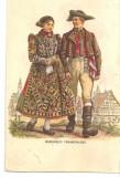 CPI (B5245) CARTE POSTALA - COSTUM POPULAR FEMEIE SI BARBAT, VERLAG, FRANKENLAND