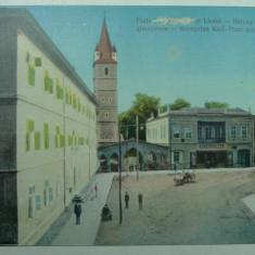 ORASTIE - SZASZVAROS - BROOS - PIATA CAROL SI LICEUL - INCEPUTUL ANILOR 1900 - Carte Postala Transilvania 1904-1918, Necirculata, Fotografie