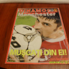 Program Dinamo - Manchester United - Program meci