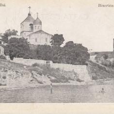 MOLDOVA BASARABIA CETATEA ALBA BISERICA GRECEASCA - Carte Postala Moldova dupa 1918, Necirculata, Printata