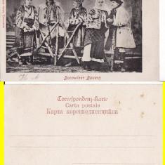 Port popular din Bucovina- tipuri-clasica - Carte Postala Bucovina pana la 1904, Necirculata, Printata
