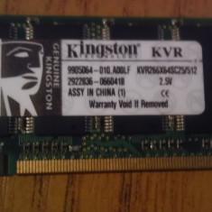 Memorie ram ddr1 kingston 512 mb - Memorie RAM laptop