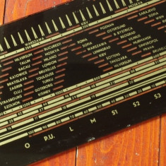 Grila originala din sticla / Radio pe lampi - Eletronica - Made in Romania !!!