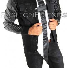 Geaca de blugi tip ZARA - geaca slim fit - geaca fashion - geaca de blugi 4999 - Geaca barbati, Marime: XL, Culoare: Din imagine