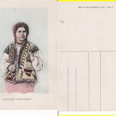 Port popular din Galitia- tipuri - Carte Postala Bucovina pana la 1904, Circulata, Printata