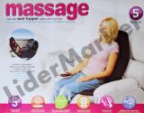 Saltea cu masaj si incalzire pentru masina sau acasa