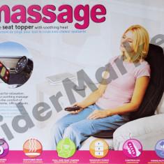Saltea cu masaj si incalzire pentru masina sau acasa - Perna masaj