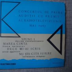 Concertul De Prime Auditii Premii Radioteleviziunii 1967 disc single Muzica Pop electrecord, VINIL