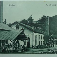 CUGIR - KUDSIR - VEDERE DIN UZINELE REGALE DE FIER - INCEPUT DE 1900 - RARA - Carte Postala Transilvania 1904-1918, Necirculata, Fotografie