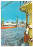 % carte postala (marca fixa)-CALARASI-OLTENITA-Santierul naval, Circulata, Printata