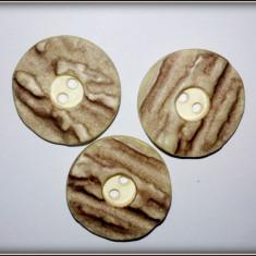 Lot 3 nasturi imitatie corn de cerb / caprior
