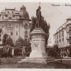 PLOIESTI STATUIA  LIBERTATII  HOTEL CENTRAL CIRC. 1936 ED. TUTUNGERIA GH.IONESCU, Circulata, Fotografie