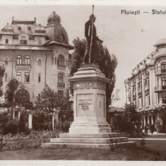 PLOIESTI-STATUIA LIBERTATII, CIRCULATA SEP. ''936 - Carte Postala Muntenia dupa 1918, Fotografie
