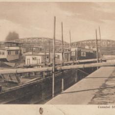 GIURGIU, CANALUL SFT. GHEORGHE, CIRCULATA APR.'933 - Carte Postala Muntenia dupa 1918, Fotografie