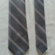 Cravata autentica Carnaval din matase naturala - Cravata Barbati, Culoare: Gri, Dungi