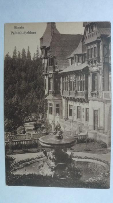 SINAIA - CASTELUL PELES - SEPIA - EDITURA GERMANA - INCEPUT DE 1900 foto mare