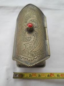 Superba si Veche Cutie Bijuterii Vintage Lucrata si Gravata Manual Inedita Rara