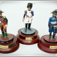 LOT 3 GENERALI NAPOLEONIENI, FIGURINE DIN PLUMB: BESSIERES, MASSENA ȘI DORSENNE! - Miniatura Figurina