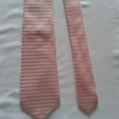 Cravata autentica Giorgio Armani din matase naturala, Culoare: Roz, Geometric