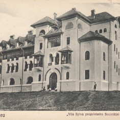 BAILE GOVORA VILA SYLVA PROPRIETATEA SOCIETATEI PROGRESUL SILVIC - Carte Postala Oltenia dupa 1918, Necirculata, Printata
