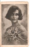 CPI (B5304) CARTE POSTALA - FEMEIE CU FLORI, BUST, EDITURA SOCEC, 1930