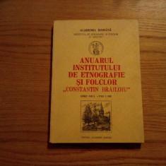 """Anuarul Institutuli de Etnografie si Folclor """"CONSTANTIN BRAILOIU"""" - tom 3/1992 - Carte folclor"""
