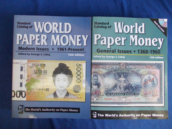 LOT 2 CATALOAGE BANCNOTE * WORLD PAPER MONEY : 1368-1960 + 1961-PRESENT -2008/10 foto mare