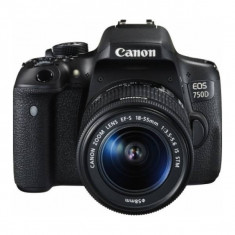 Aparat Foto DSLR Canon EOS 750D Kit 18-55mm f3.5-5.6 IS STM Black, Kit (cu obiectiv), Peste 16 Mpx, Full HD