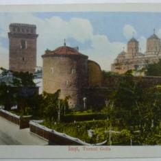 IASI - TURNUL GOLIA - INCEPUT DE 1900 - Carte Postala Moldova 1904-1918, Stare: Necirculata, Tip: Fotografie