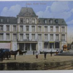 IASI - HOTEL TRAIAN - INCEPUT DE 1900 - Carte Postala Moldova 1904-1918, Stare: Necirculata, Tip: Fotografie
