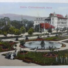 BAILE CALIMANESTI - PARCUL - Carte Postala Oltenia 1904-1918, Necirculata, Fotografie