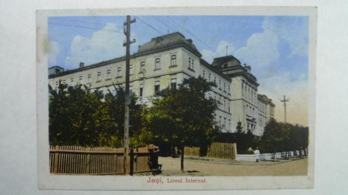 IASI - LICEUL INTERNAT - INCEPUT DE 1900 foto mare