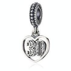 Talisman Pandora autentic din argint -model 791287cz-happy 30 - 628 - Pandantiv argint