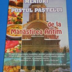 MENIURI PENTRU POSTUL PASTELUI DE LA MANASTIREA ANTIM (00800